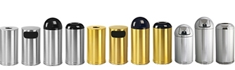 United Receptacle Metallic Designer Line Garbage Cans, Trash Containers, Waste Receptacles, Sand Urns & Wastebaskets