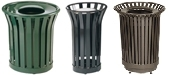 United Receptacle Americana Series Garbage Cans, Waste Receptacles & Trash Containers