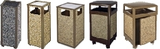 United Receptacle Aspen Series Garbage Cans, Trash Containers, Waste Receptacles & Sand Urns