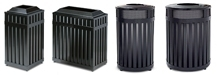 United Receptacle Avenue Series Garbage Cans, Waste Receptacles & Trash Containers