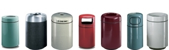 United Receptacle Barclay Series Fiberglass Trash Cans, Waste Containers & Garbage Receptacles