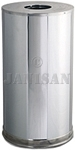 "Rubbermaid 9066 Metallic Designer Line Open Top Waste Receptacle - 15 Gallon Capacity - 15"" Dia. x 28"" H - Mirror Chrome"