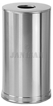 "United Receptacle CC16SSS Metallic Designer Line Open Top Waste Receptacle - 15 Gallon Capacity - 15"" Dia. x 28\"" H - Satin Stainless Steel"