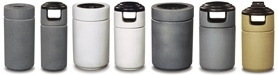 United Receptacle Cornerstone Fiberglass Garbage Cans, Trash Containers, Waste Receptacles & Sand Urns