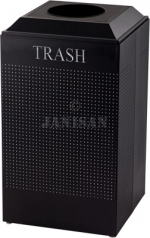 United Receptacle DCR24TTBK Silhouette Recycling Receptacle - Trash - 29 Gallon Capacity - Textured Black