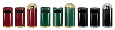 United Receptacle European Designer Line Garbage Cans, Trash Containers, Waste Receptacles & Sand Urns