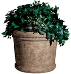"Rubbermaid / United Receptacle FGFGPF2419BISQ Milan Collection Fiberglass Planter - 24"" Dia. x 19"" H - Bisque in color"