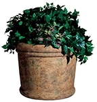"Rubbermaid / United Receptacle FGFGPF3626SAH Milan Collection Fiberglass Planter - 36"" Dia. x 26 1/2"" H - Sahara in color"