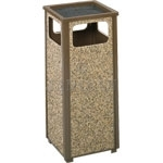 "United Receptacle R12SU Aspen Series Sand Urn Litter Receptacle - 12 Gallon Capacity - 13 1/2"" Sq. x 32"" H"