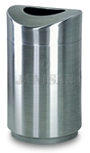 "United Receptacle R2030SSS Designer Line Eclipse Trash Can - 30 Gallon Capacity - 20"" Dia. x 35.5"" H - Stainless Steel"