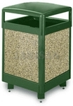 "United Receptacle R38HT Aspen Series Trash Can - 38 Gallon Capacity - 26"" Sq. x 40"" H"