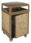 "United Receptacle R38SD-201 Aspen Series Large Capacity Garbage Can with Side Door Access - 38 Gallon Capacity - 26"" Sq. x 40"" H"
