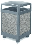 "United Receptacle R48HT Aspen Series Trash Can - 48 Gallon Capacity - 26"" Sq. x 40"" H"