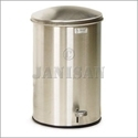 "United Receptacle ST3.5SS 3.5-Gallon Round Step Can - 17"" H x 11"" Dia. - Stainless Steel"