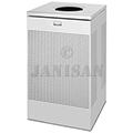 "United Receptacle SC18SS Designer Line Silhouette Open Top Waste Receptacle - 40 Gallon - 18 3/4"" Sq. x 30"" H - Stainless Steel"