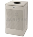 "United Receptacle SC18EDP Designer Line Silhouette Open Top Waste Receptacle - 40 Gallon - 18 3/4"" Sq. x 30"" H - Desert Pearl"