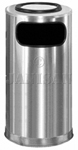 "United Receptacle SO16SUSSS Ash/Trash Waste Receptacle - 12 Gallon - 15"" Dia. x 28"" H - Satin Stainless Steel"