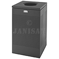 "United Receptacle SC18ETBK Designer Line Silhouette Open Top Waste Receptacle - 40 Gallon - 18 3/4"" Sq. x 30"" H - Black"