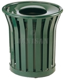 "United Receptacle MT32 Americana Series Garbage Can - 36 Gallon Capacity - 26"" Dia. x 32.5"" H - Disposal Opening is 12"" Dia."