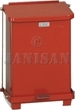 "United Receptacle ST7E Square Step Can - 7-Gallon Capacity - 12"" Sq. x 17"" H - Red or White"