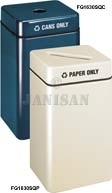 "FG1630SQP Two Piece Square Paper Recycling Model - 32 Gallon Capacity - 16"" Sq. x 30"" H - Disposal Opening is 12"" L x 2.5"" W"