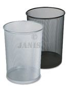 "United Receptacle WMB20 Concept Collection Round Mesh Wastebasket - 11.5"" Dia. x 14"" H - Black or Silver - 6 per carton"