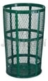"United Receptacle SBR52E Powder Coated Steel Mesh Street Basket - 48 Gallon Capacity - 24"" Top Dia. x 33"" H"