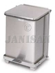 "United Receptacle ST7SS Square Step Can - 7 Gallon Capacity - 12"" Sq. x 17"" H - Stainless Steel"