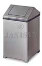 "United Receptacle T1414SS Small WasteMaster Garbage Can - 14 Gallon Capacity - 14"" Sq. x 26"" H - Stainless Steel"