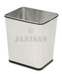 "United Receptacle WB29RSS Concept Collection Rectangular Stainless Wastebasket - 13.5"" W x 15.5"" H x 11"" Dp. - Stainless Steel - 3 per carton"
