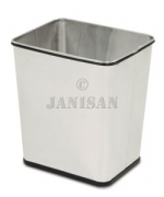 "United Receptacle WB29RSS Concept Collection Rectangular Stainless Wastebasket - 13.5"" W x 15.5\"" H x 11\"" Dp. - Stainless Steel - 3 per carton"