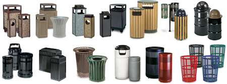 United Receptacle Outdoor Trash Cans