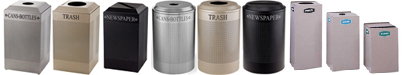 United Receptacle Recycle Trash Cans